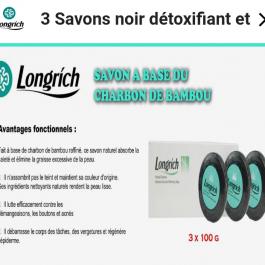 Savon Noir de Bambou Longrich